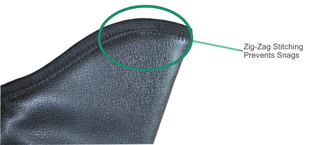 zig-zag stitching