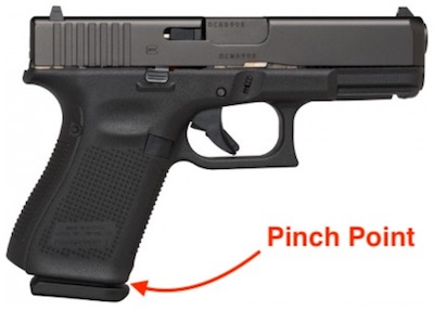 Glock G45 VS Glock G19X Pinch Point Comparison