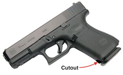 Glock G45 VS Glock G19X Cutout Comparison