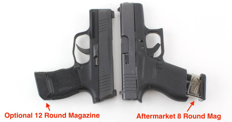 Glock 43 vs Sig P365 Extended Magazines Holster Comparison