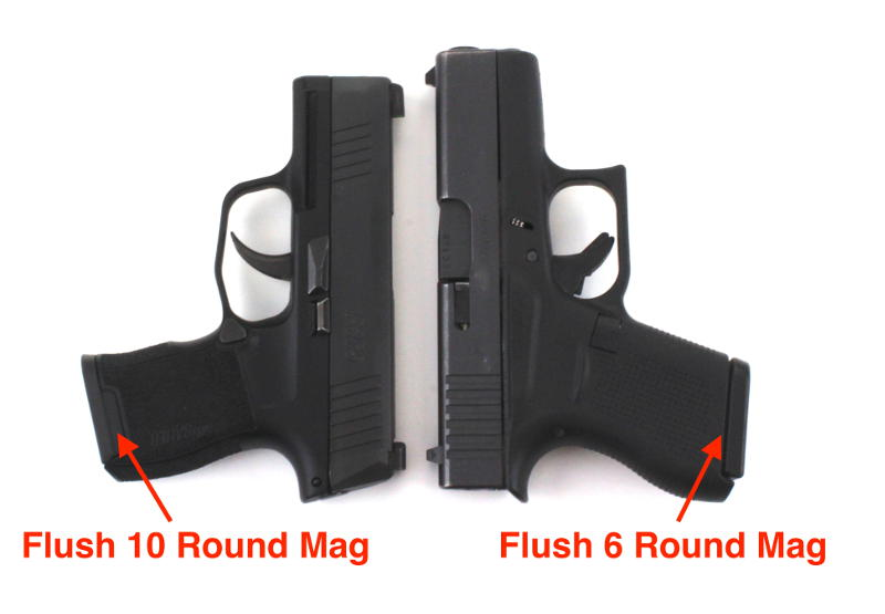 Glock 43 vs Sig P365 Mag Capacity Comparison