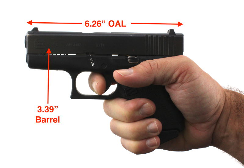 Glock 43 vs Sig P365 Barrel Length Comparison