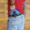Glock 43 mag holster carried on belt