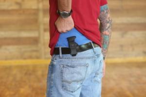 Sig P365 mag holster carried on belt