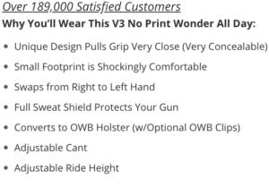 Glock 43X IWB holster benefits