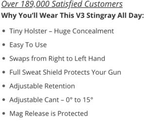 Glock 19X Kydex holster benefits