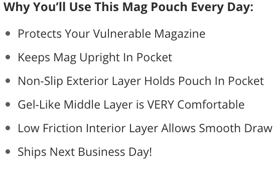 Glock 19 MOS mag pouch benefits