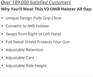 Glock 19X OWB holster benefits