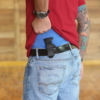 Glock 43X mag holster carried on belt