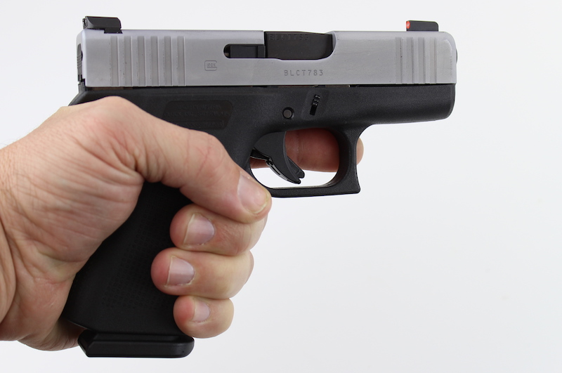 Glock 43X in hand