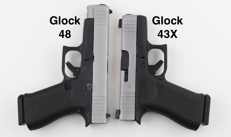 Glock 48 vs Glock 43X (with pictures) | Clinger Holsters