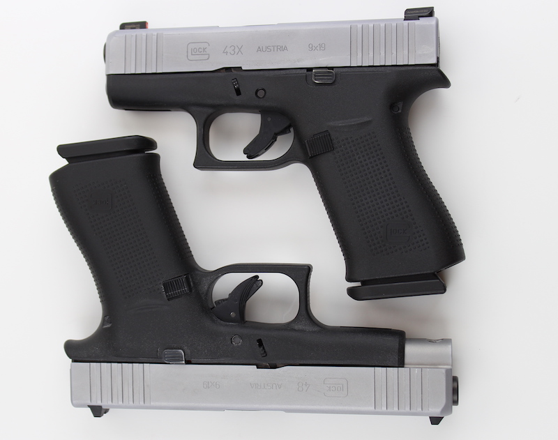Glock 48 and Glock 43 have the same size grips