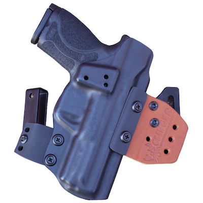 OWB S&W M&P Shield 380 EZ holster for concealment