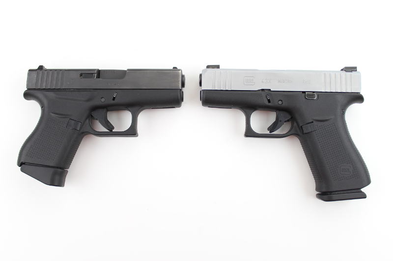 Glock 43X VS Glock 43 Laying next to each other