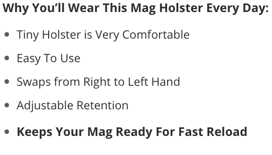Ruger Security 9 Compact Mag Holster Benefits