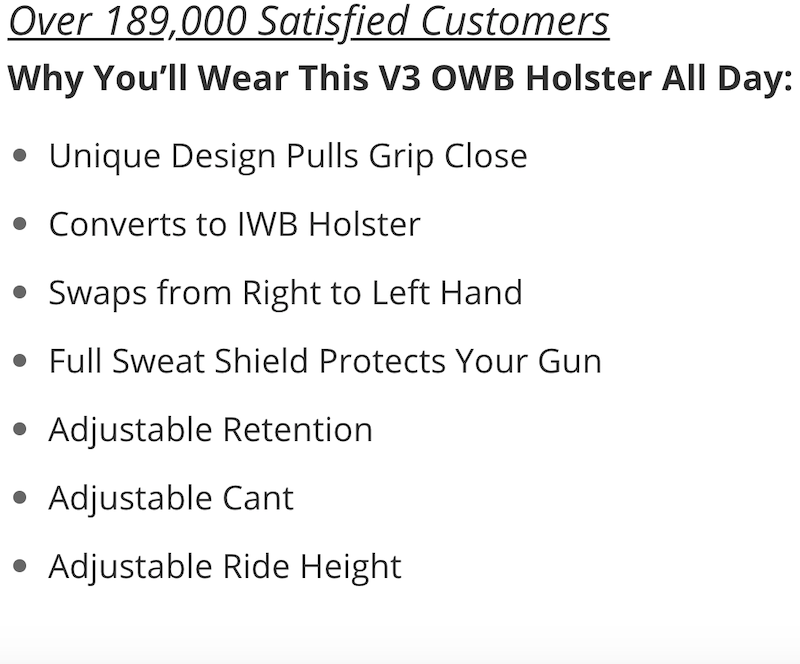 Ruger Security 9 Compact OWB Holster Benefits