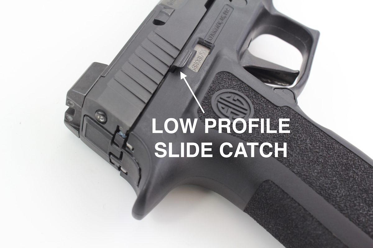 Sig P320 XCompact Concealed Carry Holster Low Profile Slide Catch