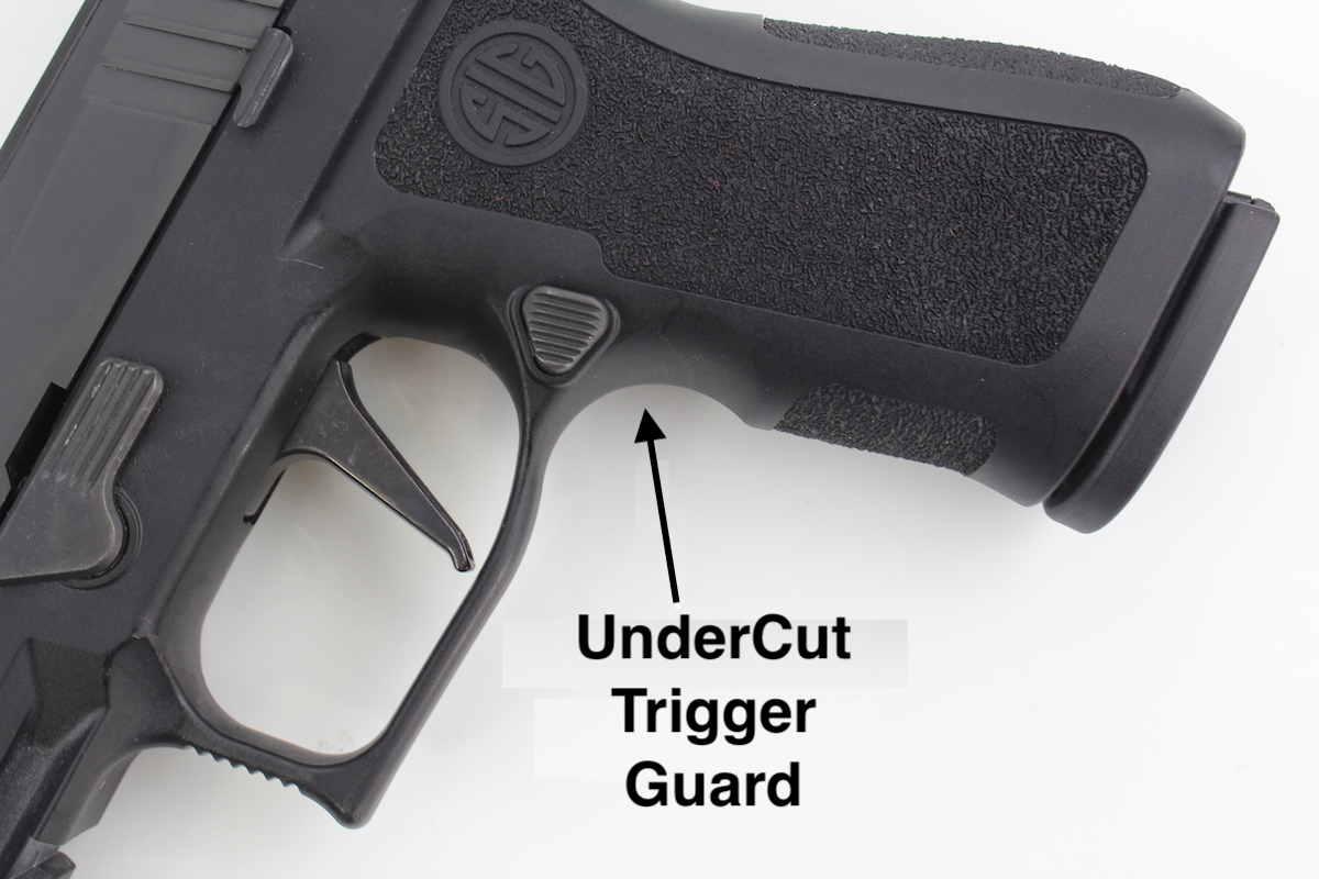 Sig P320 XCompact Concealed Carry Holster Under Cut Trigger Guard