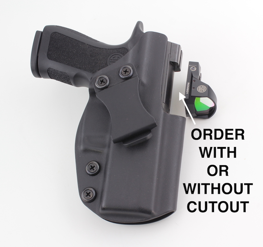 Sig P320 XCompact Concealed Carry Holster Cutout