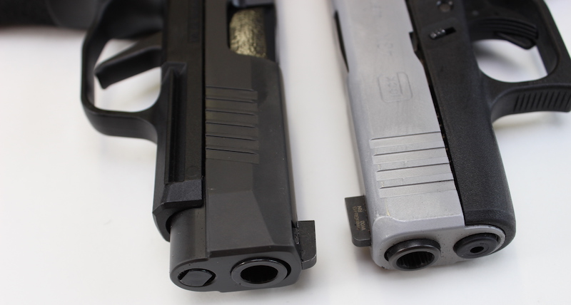 Sig P365 XL vs Glock 43X comparison detailed close up