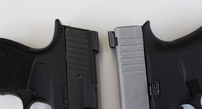 Sig P365 XL vs Glock 43X detailed side by side comparison