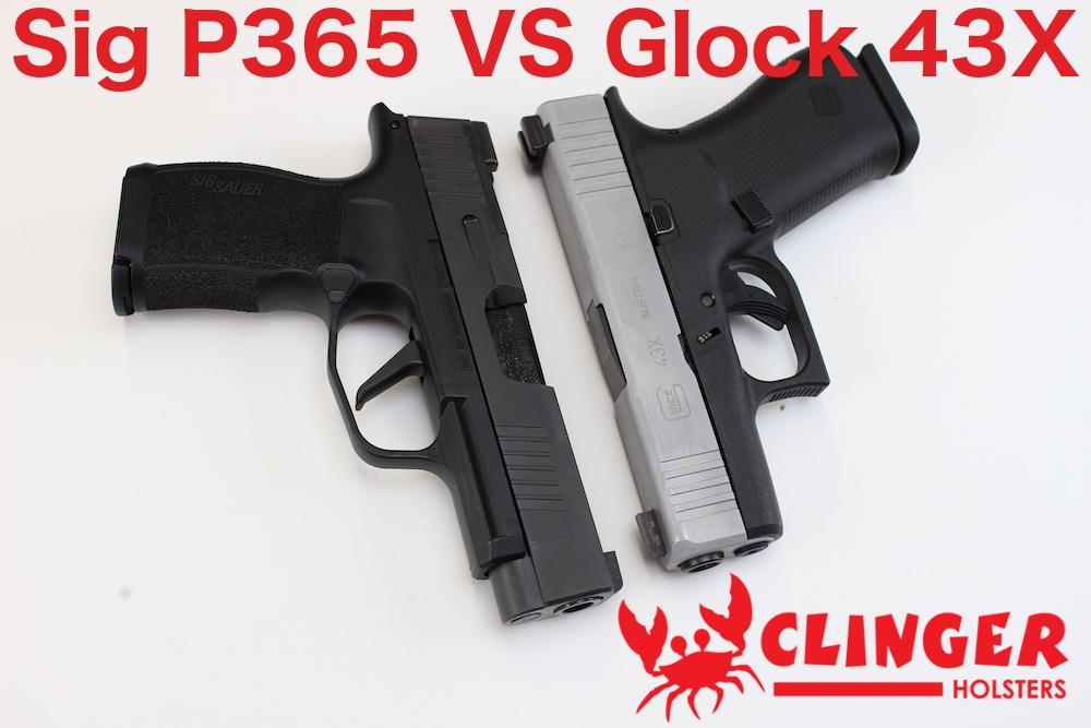 sig p365 vs glock 43x - Clinger Holsters