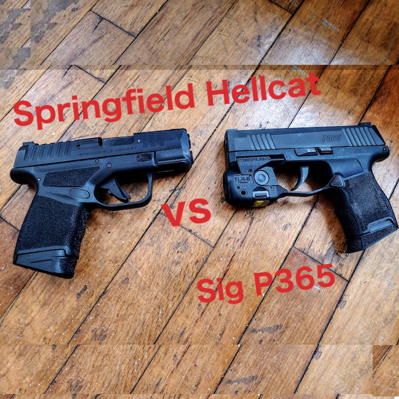 Springfield Hellcat Vs Sig P365 With Pictures Clinger Holsters