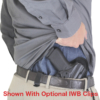 Optional IWB belt clips for Hinge Holster