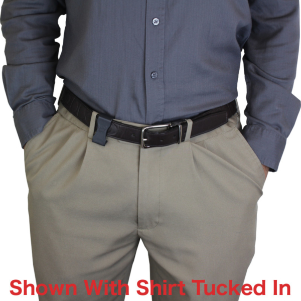 Holster with shirt tucked in