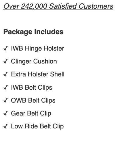 beretta cheetah Package Deal benefits