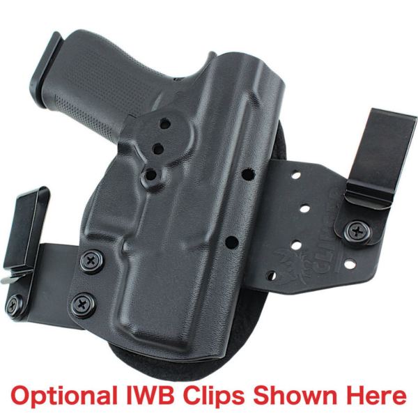 optional belt clips for Beretta 92 Compact OWB Holster