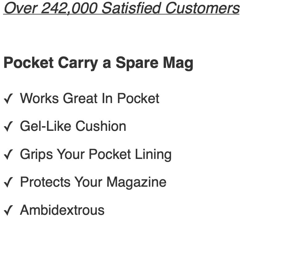 benefits of Glock 23 Mag Pouch