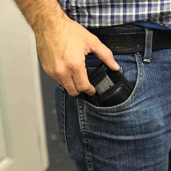 Soft Glock 19 with TCM pocket Mag Pouch