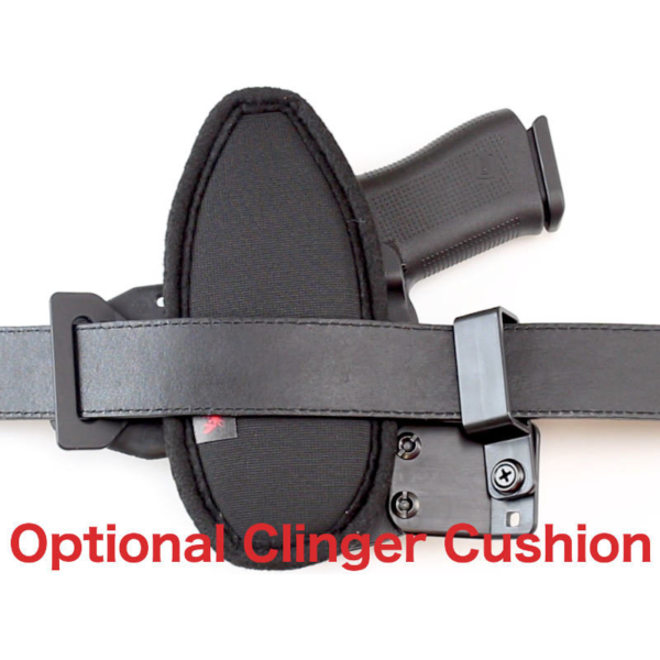 OWB Glock 23 holster with cushion attached