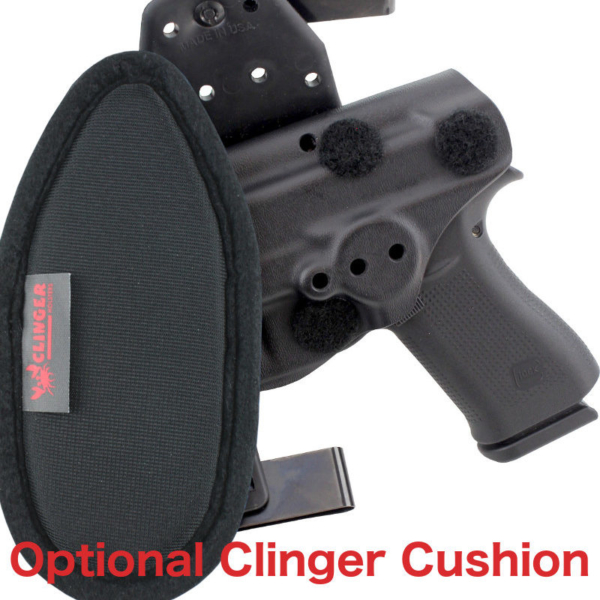 cushioned OWB Glock 23 holster