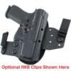 optional belt clips for CZ P07 OWB Holster
