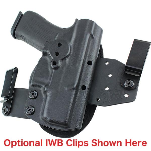 optional belt clips for HK P30SK OWB Holster