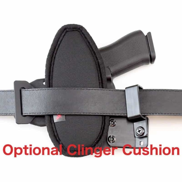 OWB Glock 43X MOS holster with cushion attached