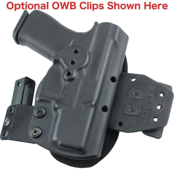 Optional OWB clips for Glock 48 MOS Holster