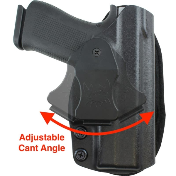 easily change cant on Glock 43X MOS Gear Holster