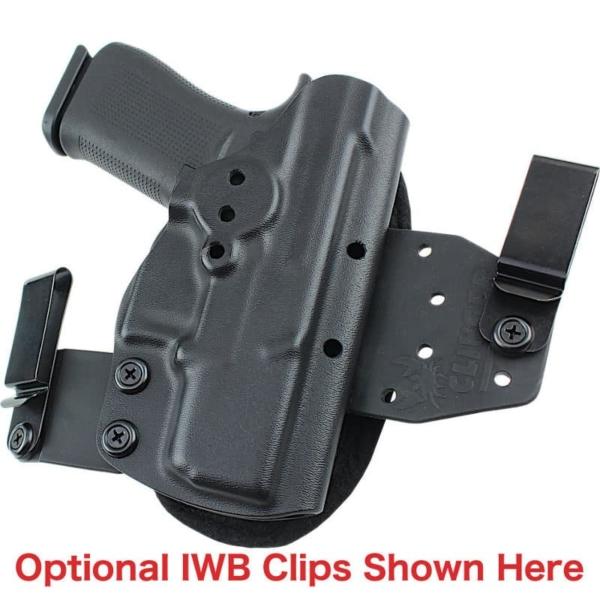 optional belt clips for Glock 43X MOS OWB Holster