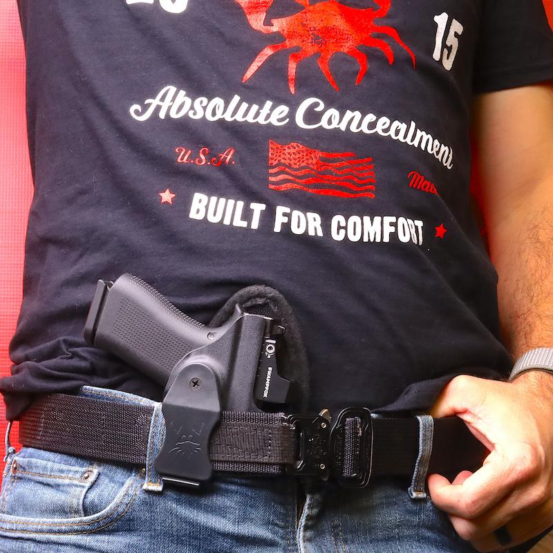 Glock 43x in Appendix Holster