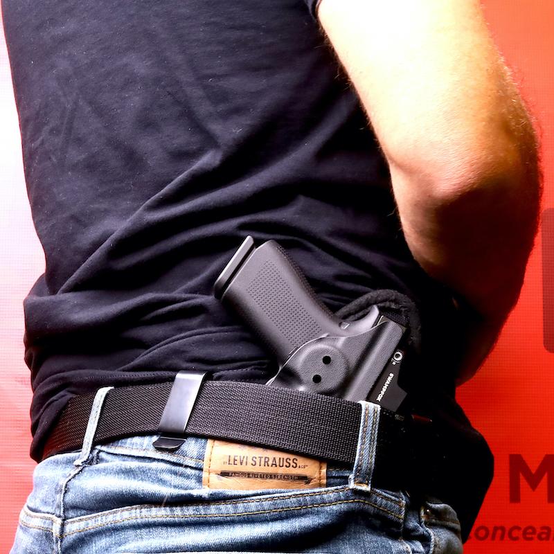 Glock 43X MOS in IWB Holster