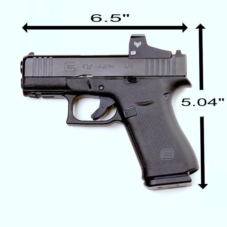 Glock 43X MOS Dimensions