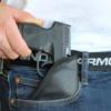 Canik TP9SA pocket holster being drawn