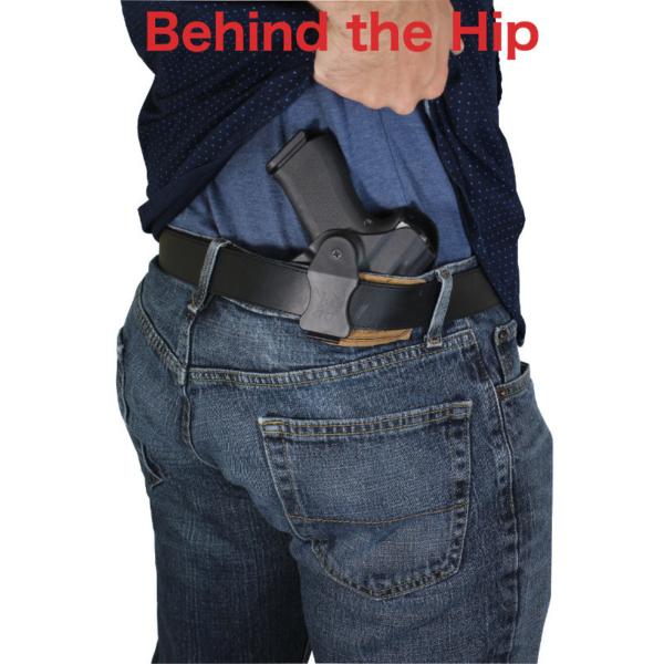 Beretta 92F Kydex holster drawn from belt