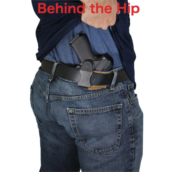 HK VP9 Kydex holster drawn from belt