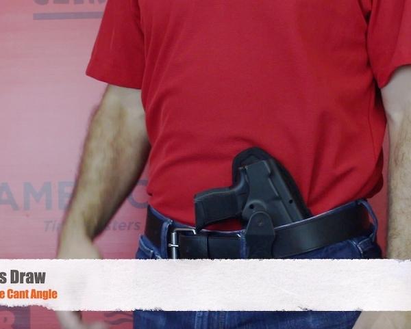 Ruger EC9S holster for crossdraw
