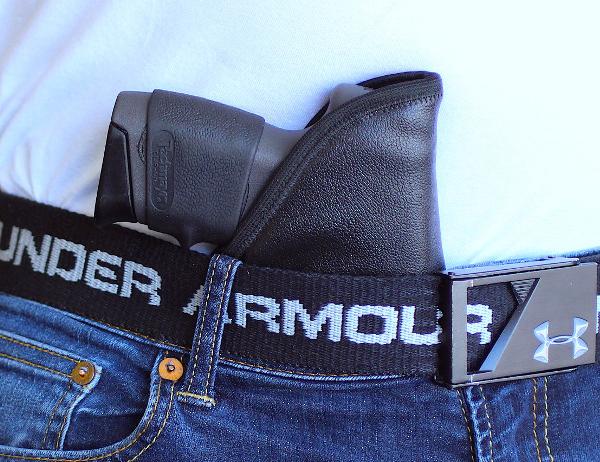 friction activated Ruger EC9S pocket holster