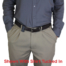 Ruger SR40C holster with shirt tucked in